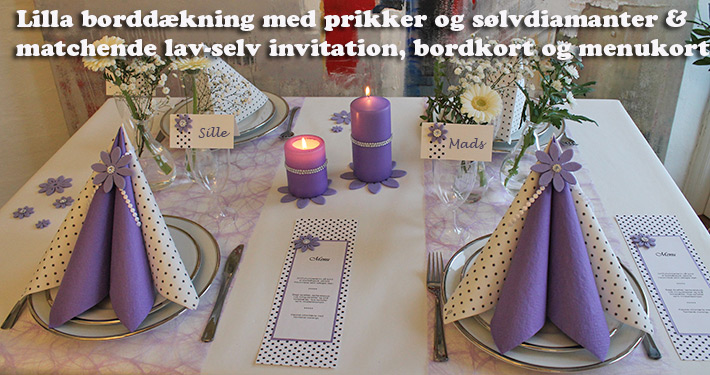 lilla borddækning ideer