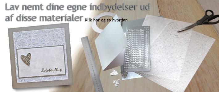 lav selv indbydelser til sølvbryllup