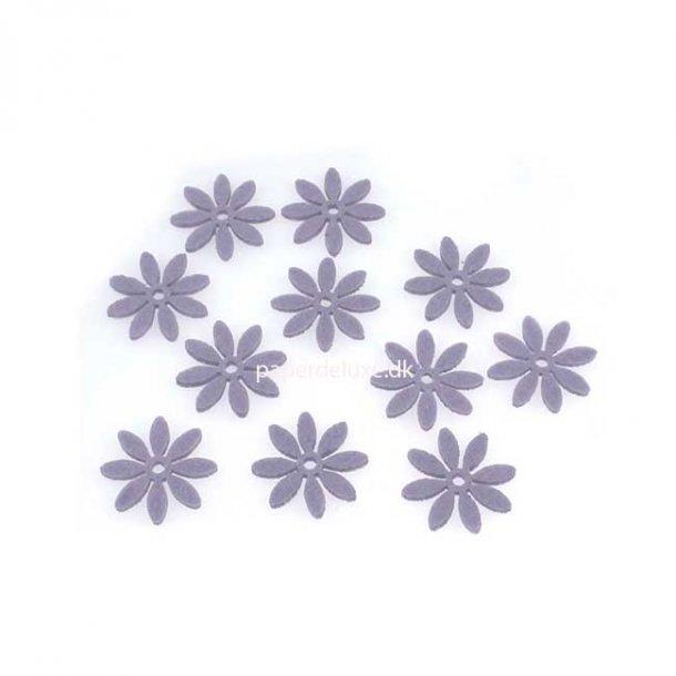 Filt blomster, lilla lille str., 18 stk.