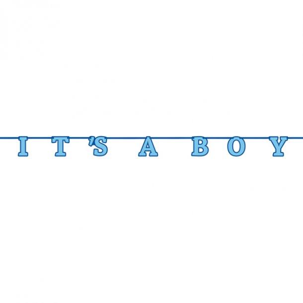 Guirlande 'It's a boy', 2,13 meter