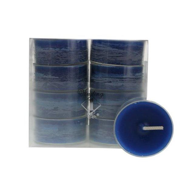 Mørkeblå fyrfadslys, 16 stk.