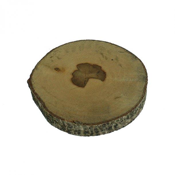 Store træskiver til bloklys, vaser mm, 2 stk.