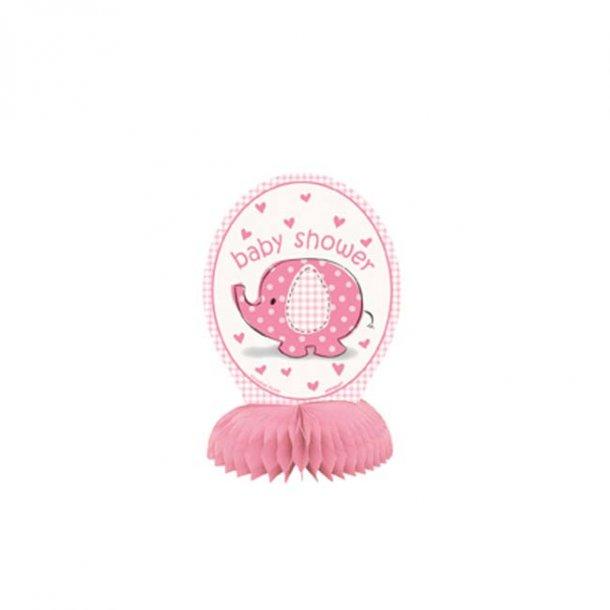 Baby shower honeycomb til bord, pige, 4 stk.