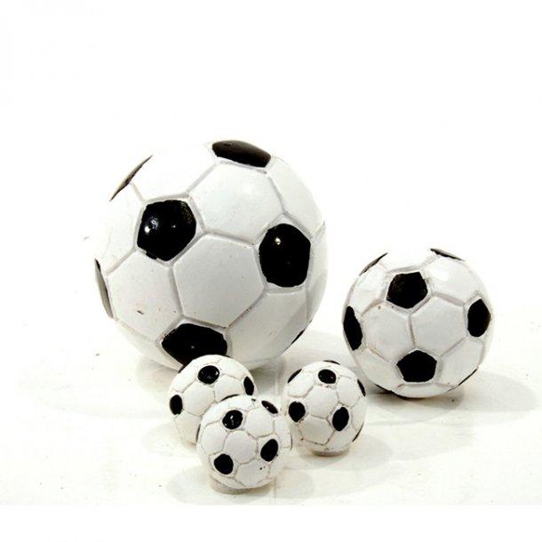 Bordpynt fodbolde sort/hvid, pose med 6 stk., giga