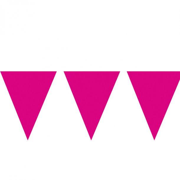 Flagbanner/guirlande, pink 10 meter