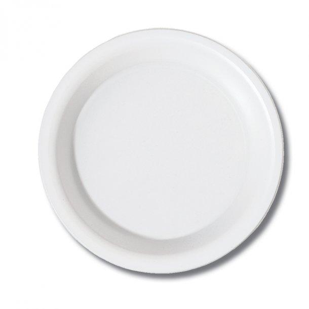 Plastiktallerkner, hvid Duni, 50 stk