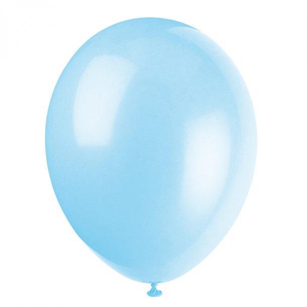 Balloner, Lyseblå perlemor, 8 stk.