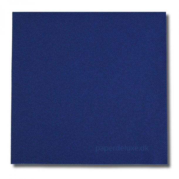 Gennemfarvede Mørkeblå airlaid/tekstilservietter, middag, 12 stk.
