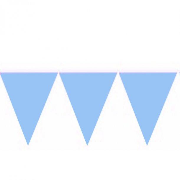 Flagbanner/guirlande, lyseblå, 10 meter