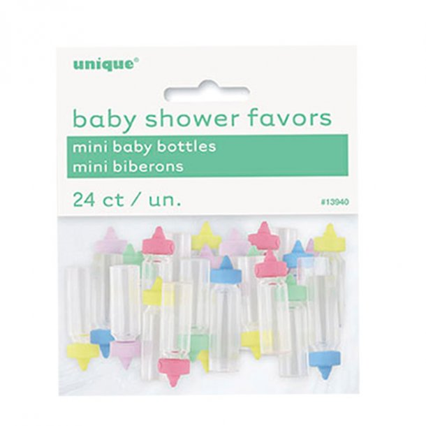 Barnedåb Bordpynt, Sutteflasker, pastel MINI
