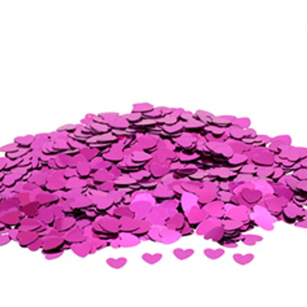 Konfetti Hjerter, Pink, 14 gr.