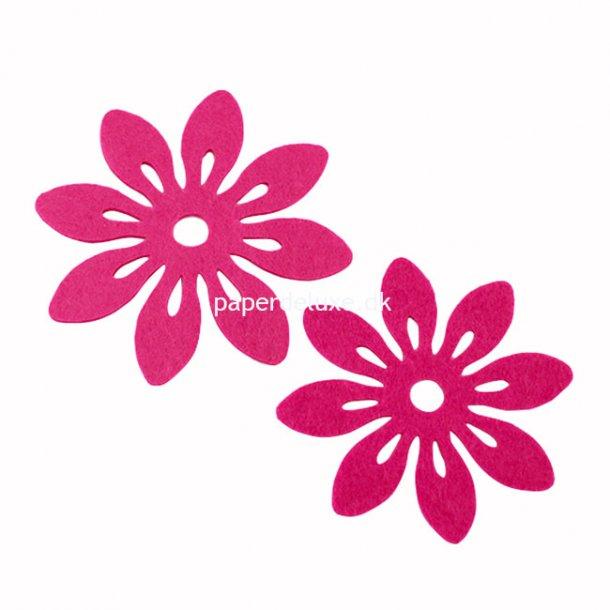 Bloklys bordskåner, Pink filt, 6 stk.