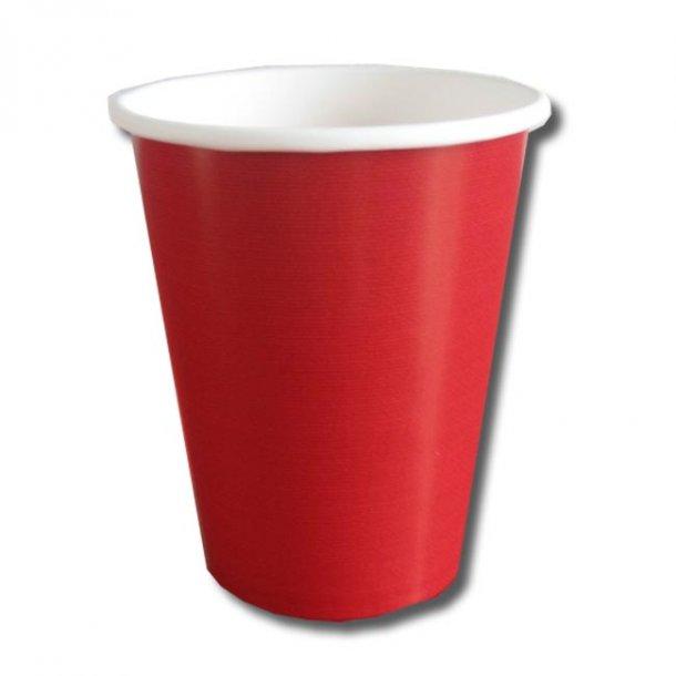 Papkrus til både varm/kold drik - Rød 8 stk.