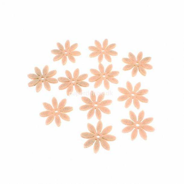 Filt blomst, Pudder lille str., 18 stk